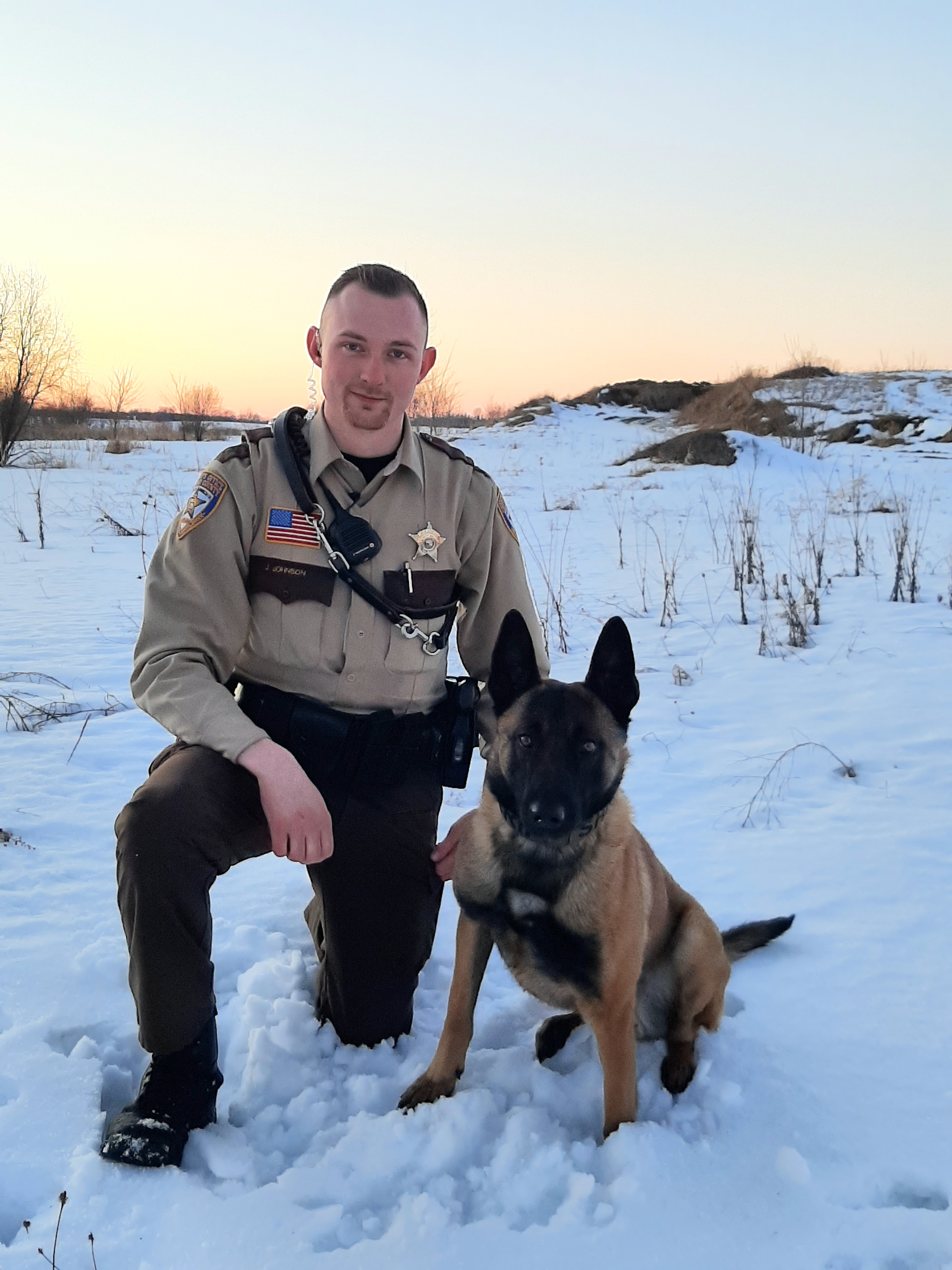 Deputy Johnson and K9 Ghost