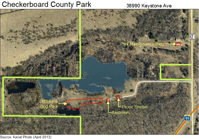 Checkerboard County Park Map