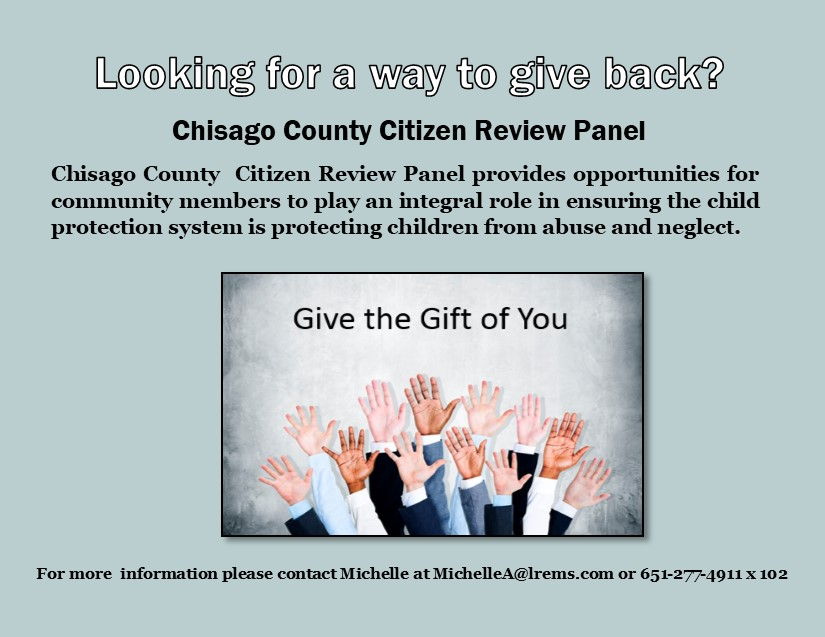 Citizen Review Panel Vacancies - Hands Up to Volunteer